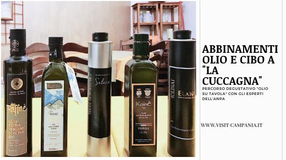 Abbinamenti olio e cibo in Campania La Cuccagna casagiove visitcampania